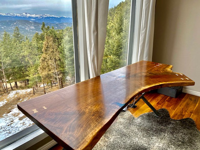 Live Edge Walnut Slab Custom Desk Table