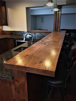 Reclaimed Barn Wood Basement Bar