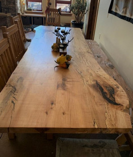 Live Edge Spalted Maple Slab Dining Table