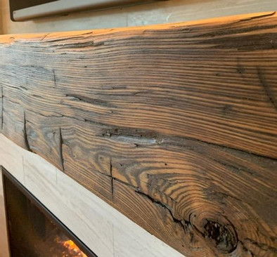 Reclaimed Barn Beam Fireplace Mantel