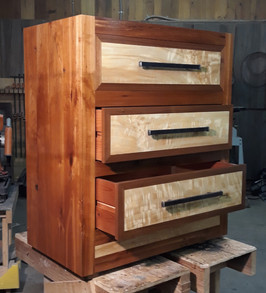 Aged Cherry, Cottonwood & Black Walnut - Custom Drawer Chest