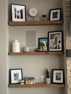 Reclaimed Antique Barn Wood Floating Shelf