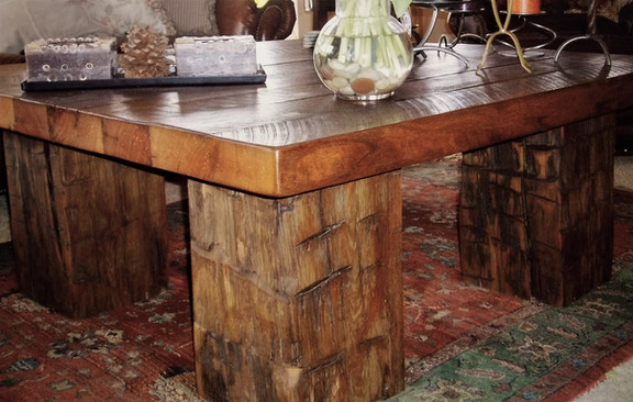 Reclaimed Barn Beam Table