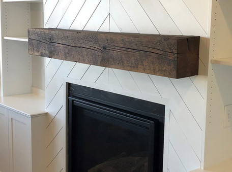 Reclaimed Barn Beam Rustic Fireplace Mantel