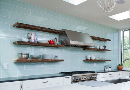 Reclaimed Antique Barnwood Kitchen Floating Shelves