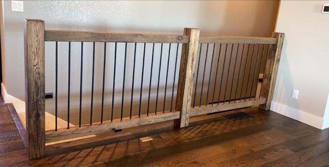 Custom Railing - Reclaimed Barnwood