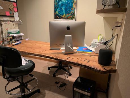 Live Edge Elm Slab Custom Table Desk