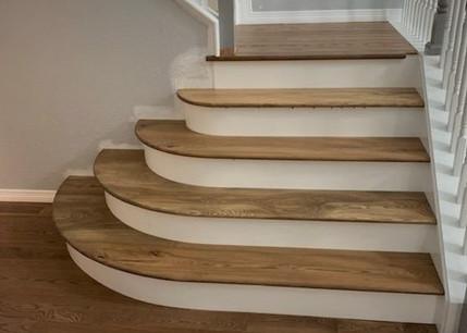 Custom Hardwood Stair Treads - Ash