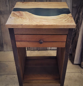 Custom River Table - Curly Cottonwood