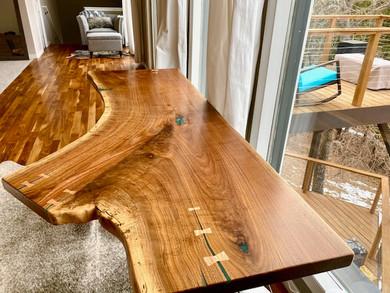 Live Edge Walnut Slab Custom Table Desk