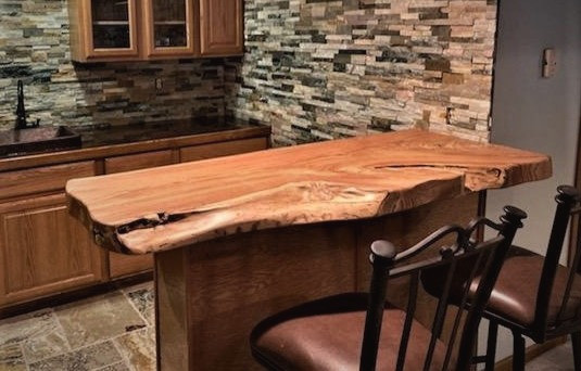 Live Edge Honey Locust - Custom Bar