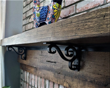 Reclaimed Barnwood Timber Rustic Fireplace Mantel