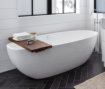 Custom Bath Tray - Live Edge Walnut