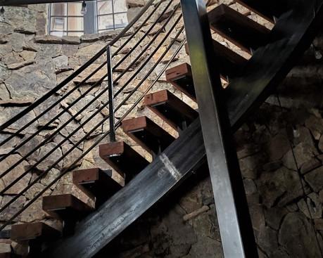 Custom Hardwood Stair Treads - Reclaimed White Oak