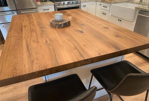 Custom Island Top - Reclaimed Oak