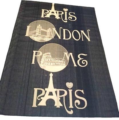 """Χαλί  Ψάθα """"London/Paris/Rome  230  Χ 325 """""""