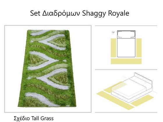 """Σετ  Κρεβατοκάμαρας Μοκετών Shaggy Royale  - """"Tall Grass"""""""