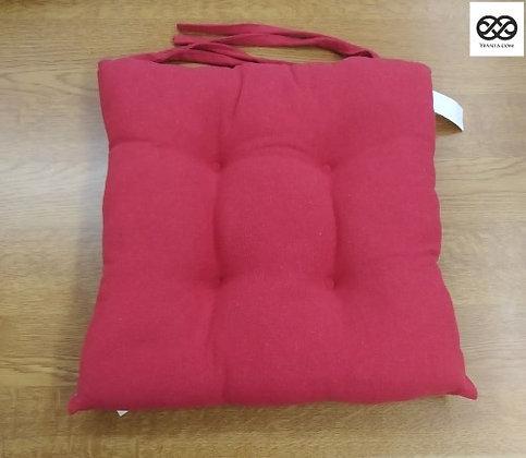 Μαξιλάρι Καθίσματος Βαμβακερό Μονόχρωμο