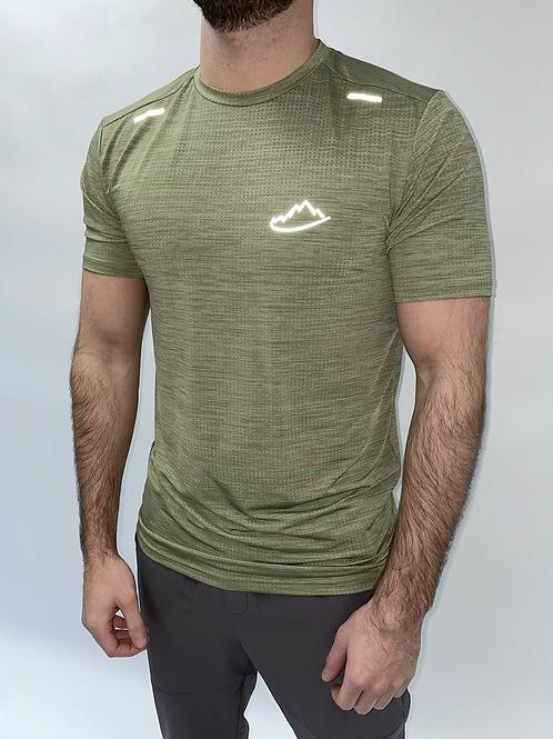 Khaki Breathable Running T-Shirt