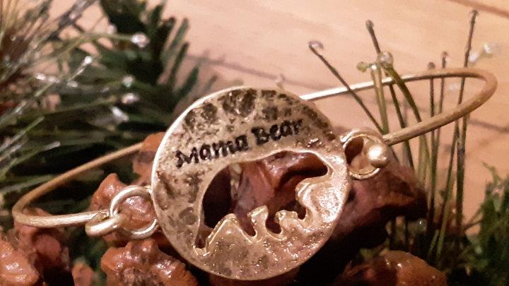 mama bear cut-out bangle