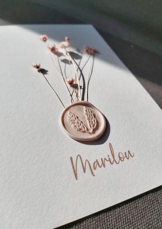 Marilou geboortekaartje