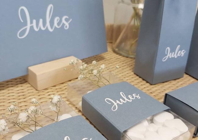 Jules op collectiepapier bleu