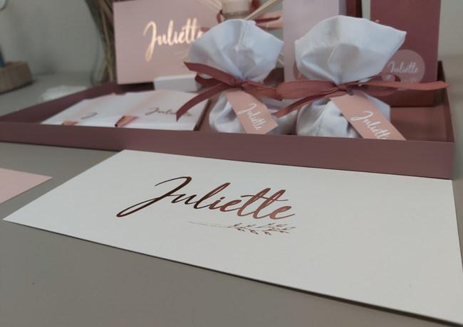 Juliette met letterpress roséfolie