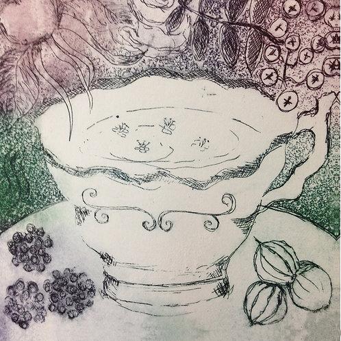 'Hedgerow Tea' Greeting Card