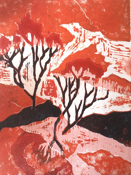 Wildfire Moor Woodcut
