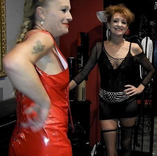 65 - Mistresses Laila & Sasha with sub slut Nicola.