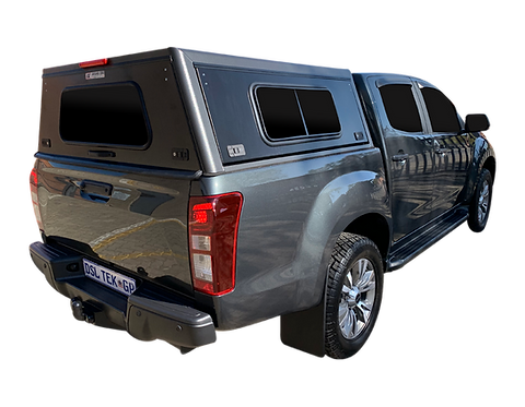 Pro Series Isuzu KB Double Cab Canopy + Side Windows - GZ Aluminium Cano