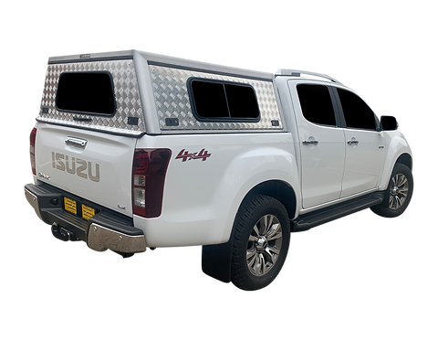 Entry Level Isuzu KB Double Cab Canopy + Side Windows - GZ Aluminium Canopies