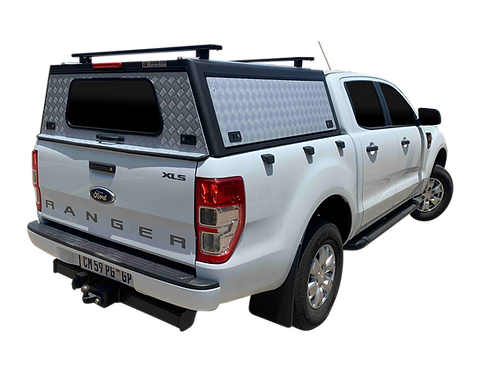 Pro Series Ford Ranger Double Cab Canopy + Load Bars - GZ Aluminium Canopies