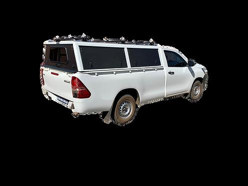 Mid Range Single Cab Canopy With Load Bars - GZ Aluminium Canopies