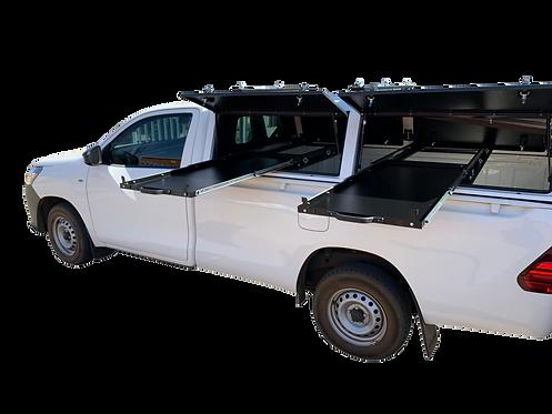 Mid Range Single Cab Canopy Combo - GZ Aluminium Canopies
