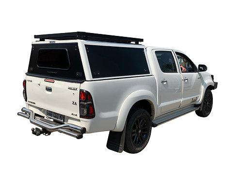 Mid Range Toyota Hilux Vigo DC Canopy + Speed Rack - GZ Aluminium Canopies