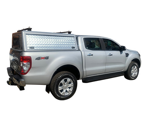 Entry Level Plus Ford Ranger DC Canopy + Load Bars - GZ Aluminium Canopies