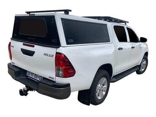 Mid Range Toyota Hilux Revo DC Canopy + Load Bars - GZ Aluminium Canopies