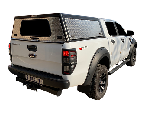 Entry Level Plus Ford Ranger Double Cab Canopy - GZ Aluminium Canopies