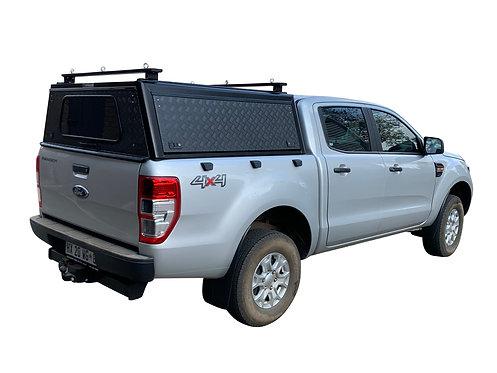 Mid Range Ford Ranger DC Canopy + Load Bars - GZ Aluminium Canopies