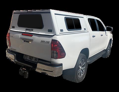 Mid Range Toyota Hilux Revo DC Canopy + Side Windows - GZ Aluminium Canopies