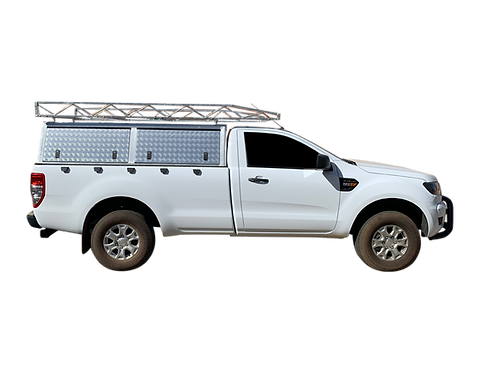 Entry Level Single Cab Canopy With Roof Rack - GZ Aluminium Canopies