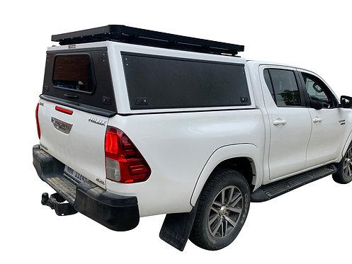 Mid Range Toyota Hilux Revo DC Canopy + Speed Rack - GZ Aluminium Canopi