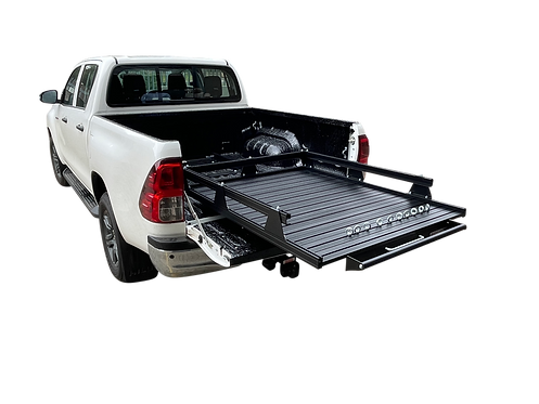 Toyota Hilux Revo Double Cab Loadslider With Perimeter Rail - GZ Aluminium Canop