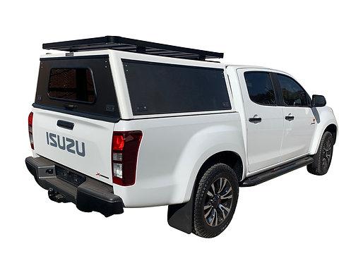 Mid Range Isuzu KB Double Cab Canopy + Speed Rack - GZ Aluminium Canopies