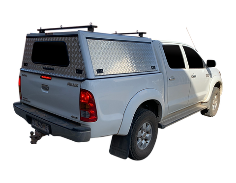 Entry Level Plus Toyota Hilux Vigo DC Canopy + Load Bars - GZ Aluminium Canopies