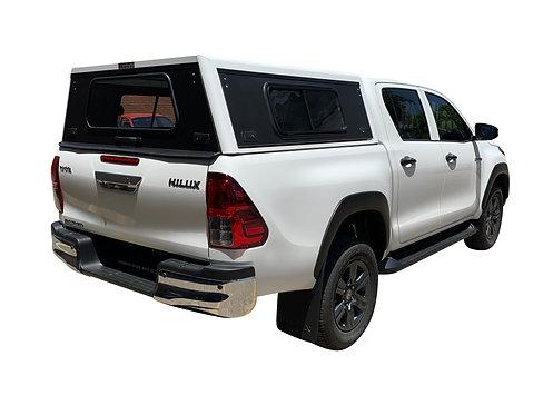 Mid Range Toyota Hilux Revo DC Canopy + Sie Windows - GZ Aluminium Canop