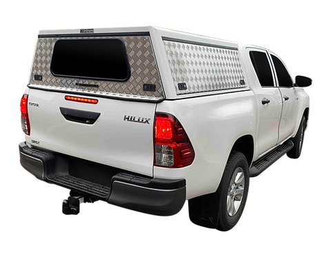 Entry Level Plus Toyota Hilux Revo Double Cab Canopy - GZ Aluminium Canopies