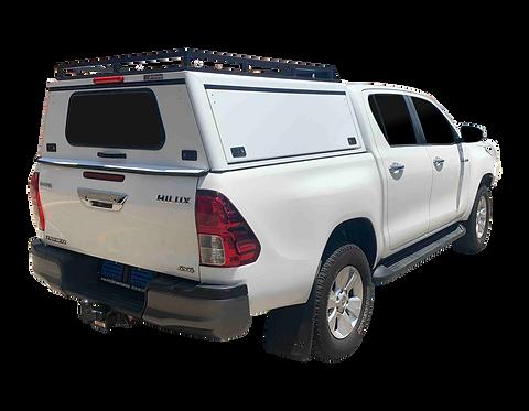 Pro Series Toyota Hilux Revo DC Canopy + Slat Rack - GZ Aluminium Canopies