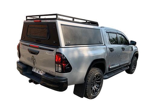 Pro Series Toyota Hilux Revo DC Canopy + Slat Rack - GZ Aluminium Canopi